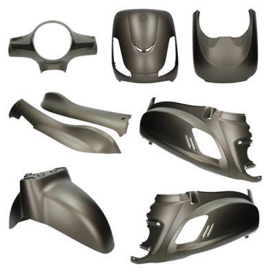 Mat bruin (titanium)