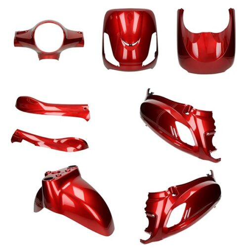 5871 plaat kappen set bordeaux rood